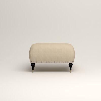 Shephard Ottoman Upholstery: Hilo Flax