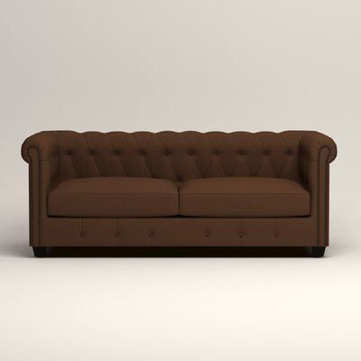Hawthorn Chesterfield Sofa Upholstery: Microsuede Chocolate