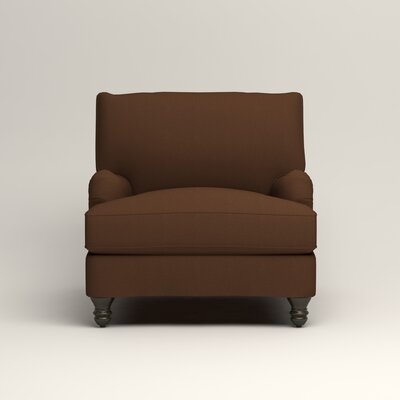 Montgomery Armchair Upholstery: Microsuede Chocolate