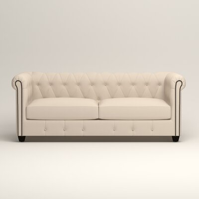 Hawthorn Chesterfield Sofa Upholstery: Microsuede Oyster