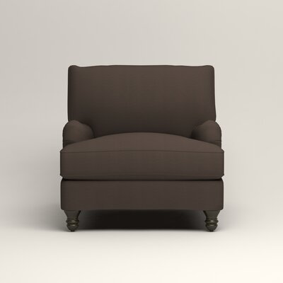 Montgomery Armchair Upholstery: Microsuede Charcoal