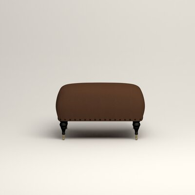 Shephard Ottoman Upholstery: Microsuede Chocolate