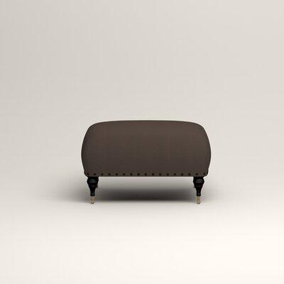 Shephard Ottoman Upholstery: Microsuede Charcoal