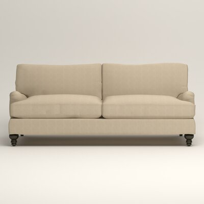 Montgomery Upholstered Sofa Upholstery: Hilo Flax