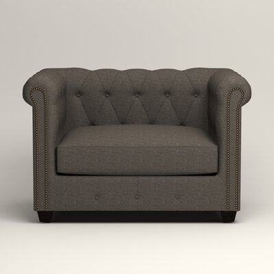 Hawthorn Chesterfield Chair Upholstery: Lizzy Graphite