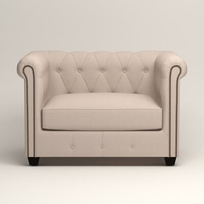 Hawthorn Chesterfield Chair Upholstery: Lizzy Linen