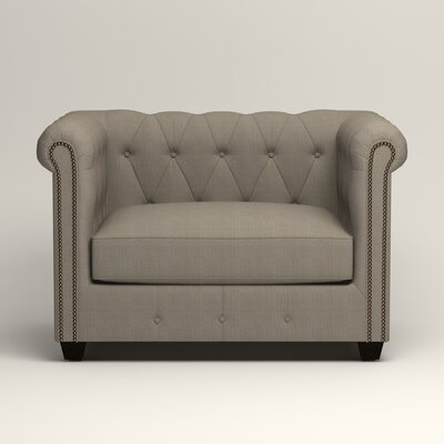 Hawthorn Chesterfield Chair Upholstery: Hilo Seagull