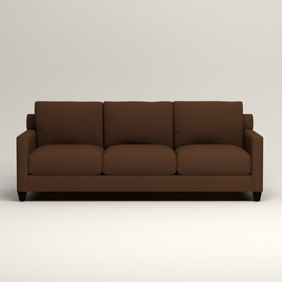 Kerry Sofa Upholstery: Microsuede Chocolate