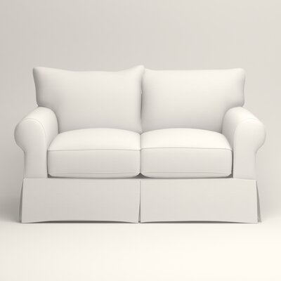 Jameson Loveseat Upholstery: Truman Cloud White Twill
