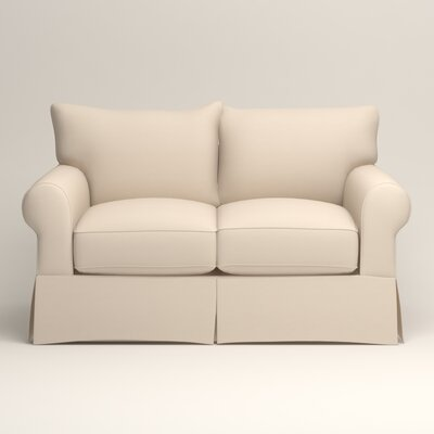 Jameson Loveseat Upholstery: Jackson Oyster Microsuede
