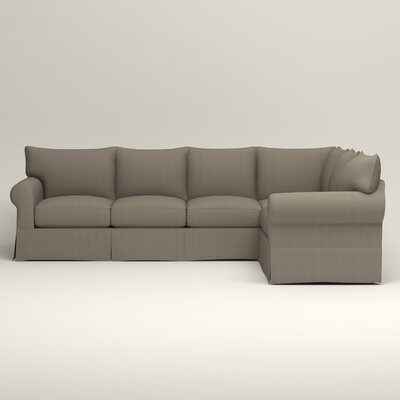 Jameson L-Shaped Sectional Orientation: Left Hand Facing, Upholstery: Bryant Slate Textured Slub