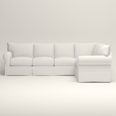 Jameson L-Shaped Sectional Upholstery: Truman Cloud White Twill, Orientation: Left Hand Facing