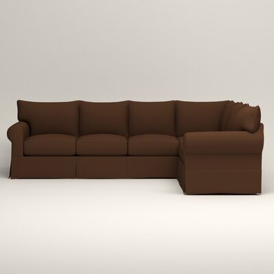 Jameson L-Shaped Sectional Upholstery: Jackson Coffee Microsuede, Orientation: Left Hand Facing