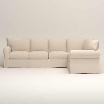 Jameson L-Shaped Sectional Upholstery: Jackson Oyster Microsuede, Orientation: Left Hand Facing
