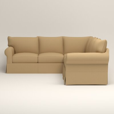 Jameson Symmetrical Sectional Upholstery: Bailey Barley Blended Linen, Orientation: Left Facing