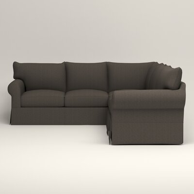 Jameson Symmetrical Sectional Upholstery: Bailey Charcoal Blended Linen, Orientation: Left Facing