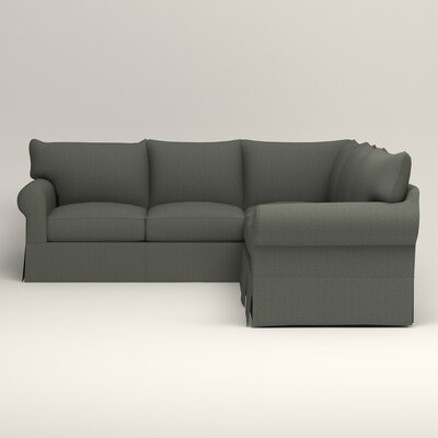 Jameson Symmetrical Sectional Upholstery: Bailey Lagoon Blended Linen, Orientation: Left Facing