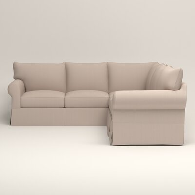 Jameson Symmetrical Sectional Upholstery: Bailey Papyrus Blended Linen, Orientation: Left Facing
