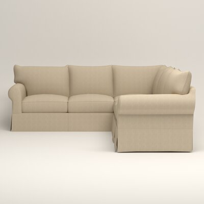 Jameson Symmetrical Sectional Orientation: Left Facing, Upholstery: Bryant Oatmeal Textured Slub