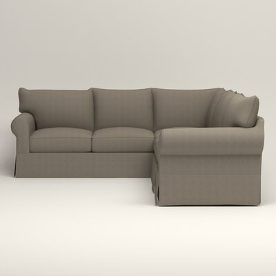 Jameson Symmetrical Sectional Orientation: Left Facing, Upholstery: Bryant Slate Textured Slub