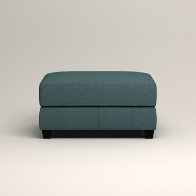 Hawthorn Ottoman Upholstery: Lizzy Prussian