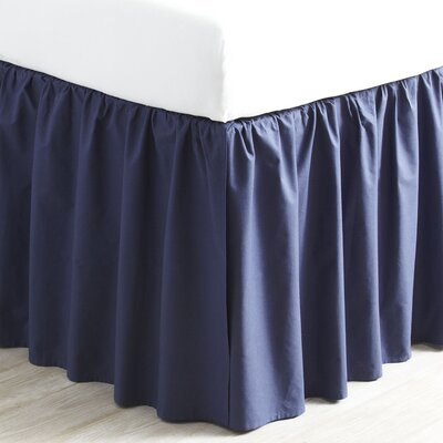 Harriet Bed Skirt Size: Twin, Color: Navy