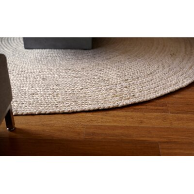 Gramercy Hand-Woven Ivory Area Rug Rug Size: Round 4