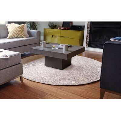 Gramercy Hand-Woven Ivory Area Rug Rug Size: Round 8