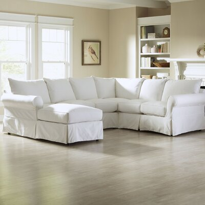 Jameson U-Shaped Sectional Upholstery: Microsuede Chocolate, Orientation: Left Facing