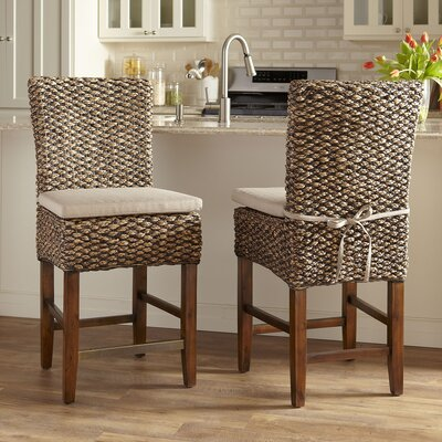 24.75  Woven Seagrass Bar Stool (Set of 2)