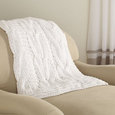 Gwenyth Throw Color: White