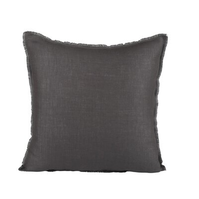 Harmony Linen Pillow Cover Size: 18 H x 18 W x 1 D, Color: Gray