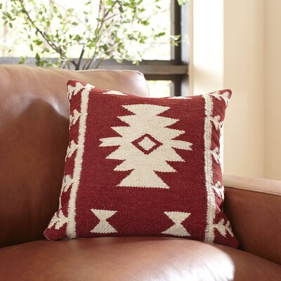 Carisa Pillow Cover Color: Red