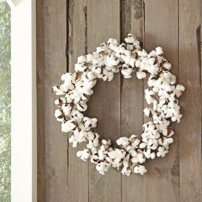 Faux Cotton Wreath by Birch Lane