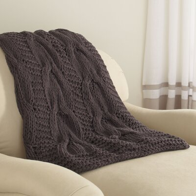Gwenyth Throw Color: Charcoal
