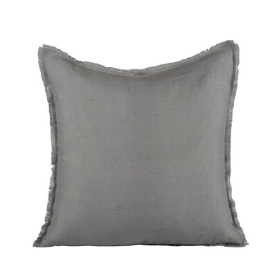 Harmony Linen Pillow Cover Size: 20 H x 20 W x 1 D, Color: Steel