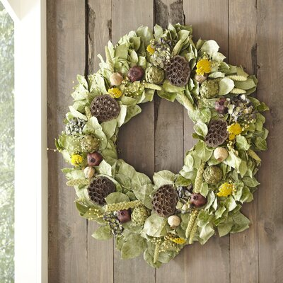 Preserved Mixed Botanical Wreath by Birch Lane