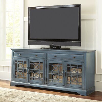 Hubert 70 TV Stand Color: Antique Blue