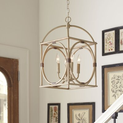 Chesapeake 4-Light Candle-Style Chandelier Finish: Antiqued Cream