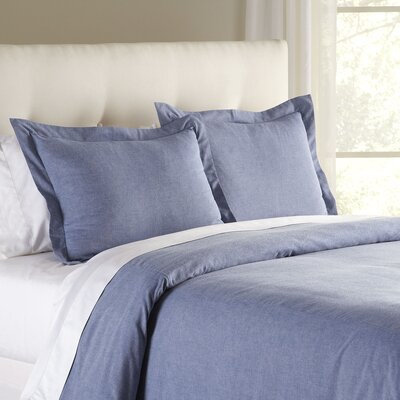 Jackie Chambray Duvet Cover Size: King