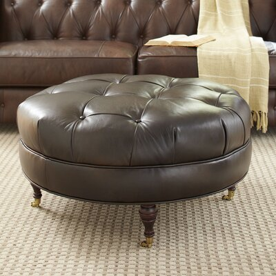 Lowery Leather Ottoman Upholstery: Mahogany Leather