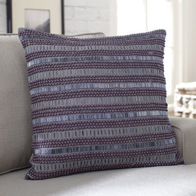 Minerva Beaded Pillow Cover Color: Gray/Purple