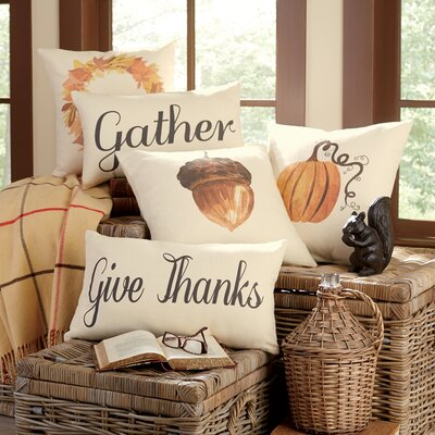 Birch Lane-Autumn Give Thanks Pillow Cover