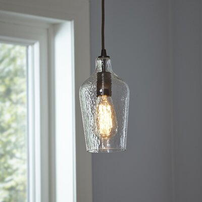 Woodrow Mini Pendant Shade Color: Clear