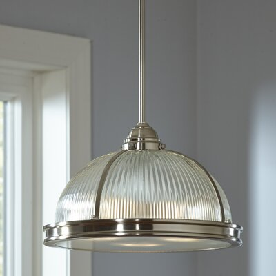 Beckett Pendant Finish: Brushed Nickel, Bulb Type: 75W A19 Medium