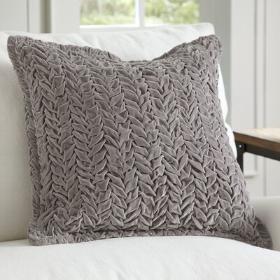 Allie Velvet Quilted Pillow Cover Color: Silver