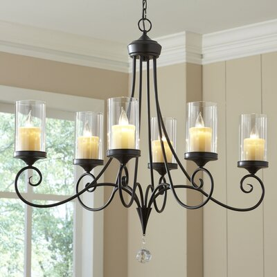 Osbourne 6-Light Candle-Style Chandelier Finish: Shadow Bronze