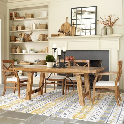 Mansfield Extending Dining Table Finish Honey Natural