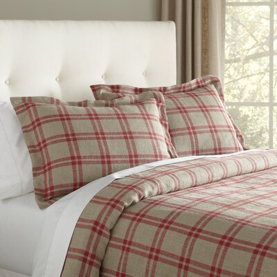 Casey Duvet Cover Size: King, Color: Red