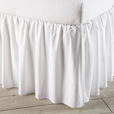 Harriet Bed Skirt Size: King, Color: White